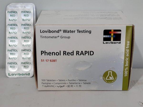50 כדורי Phenol Red Rapid למדידת pH 2