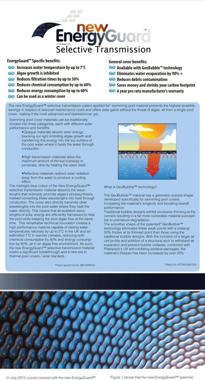 כיסוי צף סולרי לבריכה 600 מיקרון energy guard אנגליה 3