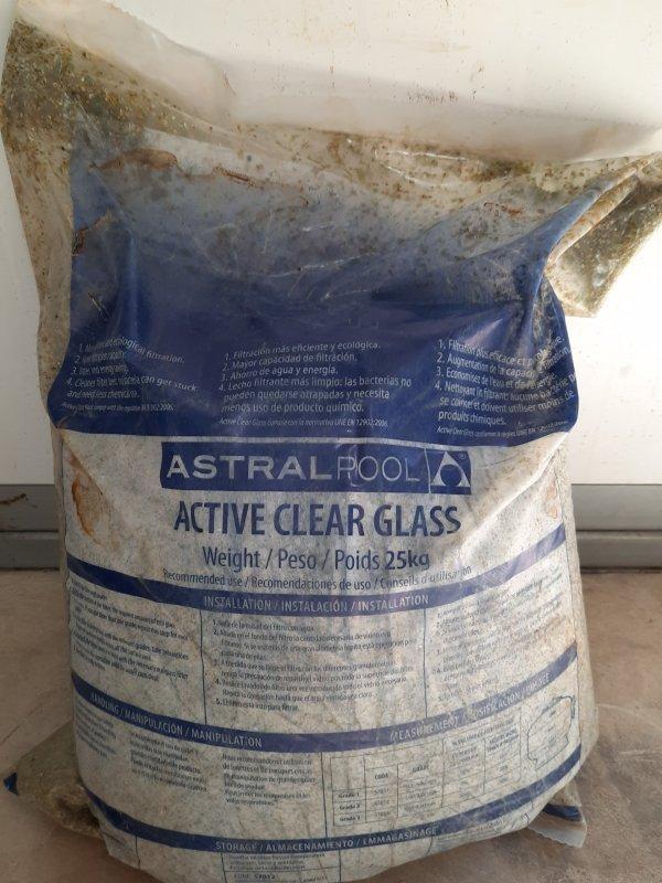 "ASTRAL - מצע סינון זכוכית אקטיבית 25 ק""ג"